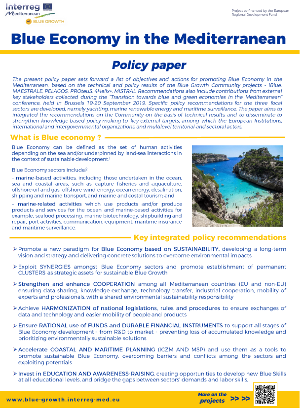 Blue Economy policy paper