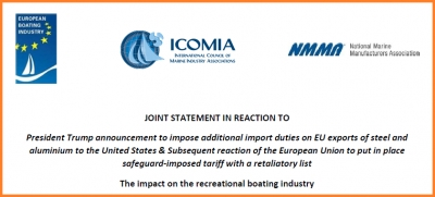EBI, NMMA and ICOMIA joint statement on trade war